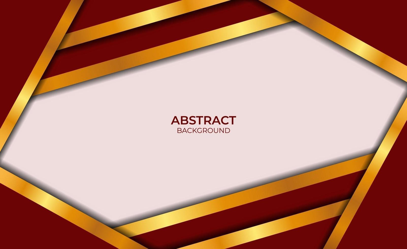 luxe abstract ontwerp rood en goud vector