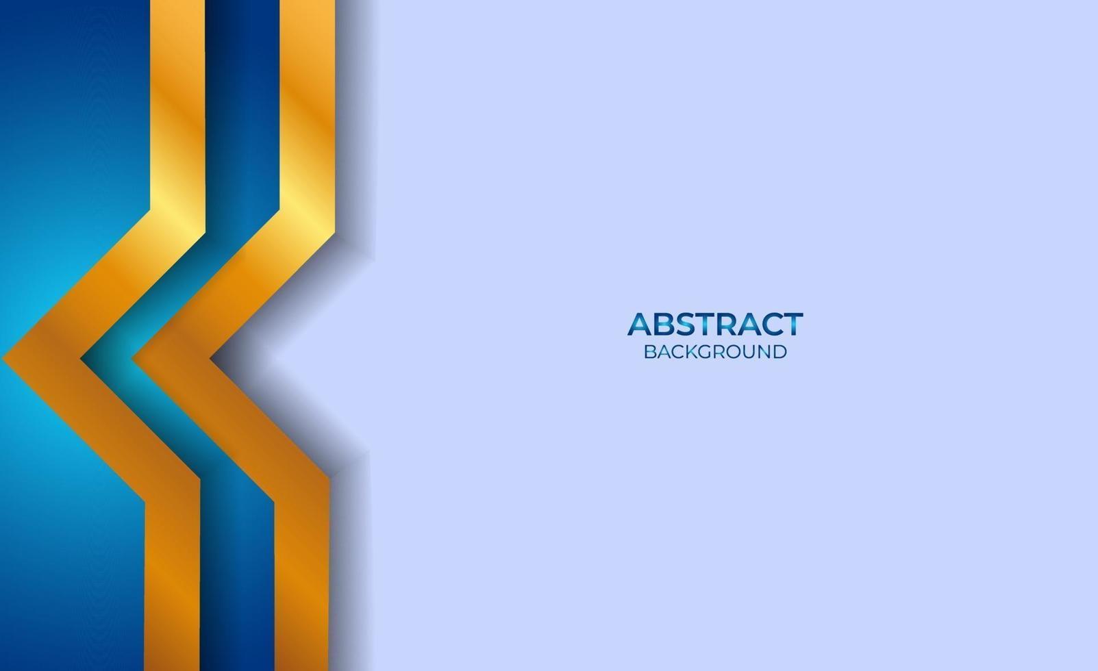 ontwerp abstracte blauwe en gouden stijl vector