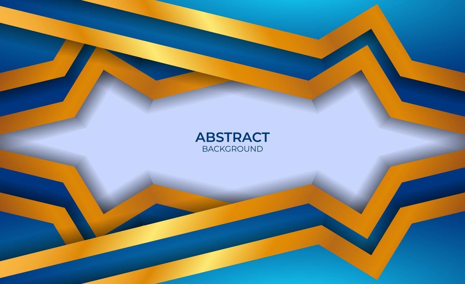 abstract luxe blauw en goud ontwerp vector