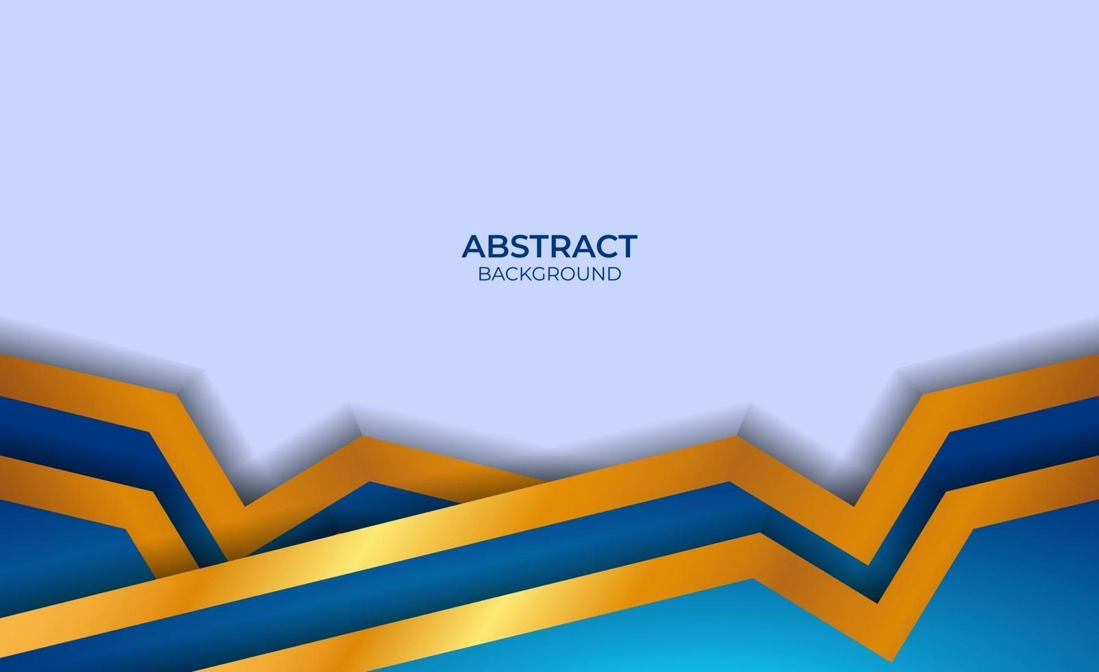 abstract luxe blauw en goud vector