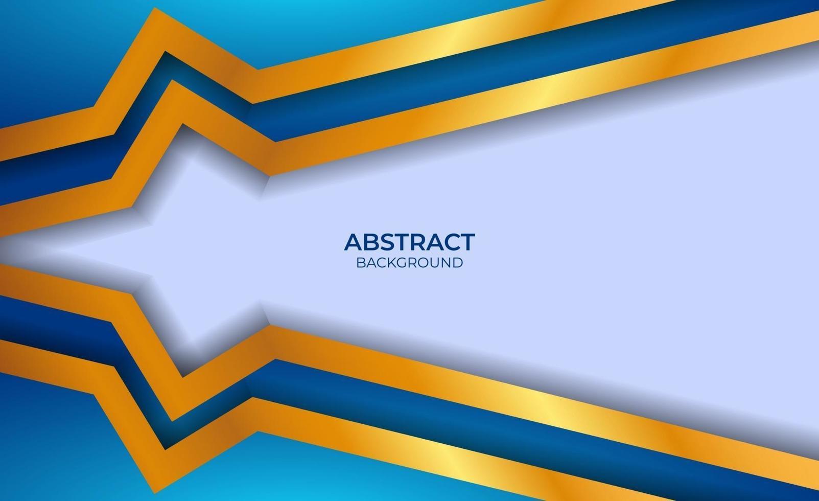 abstracte luxe blauwe en gouden stijl vector