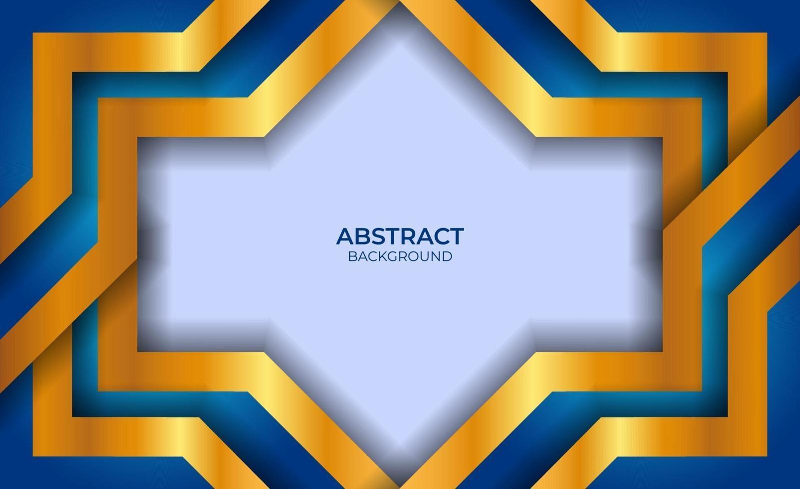 abstract ontwerp blauw en goud vector