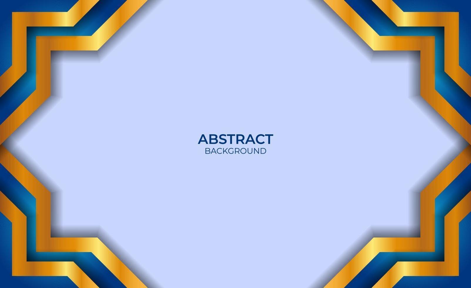 ontwerp abstracte blauwe en gouden achtergrond vector