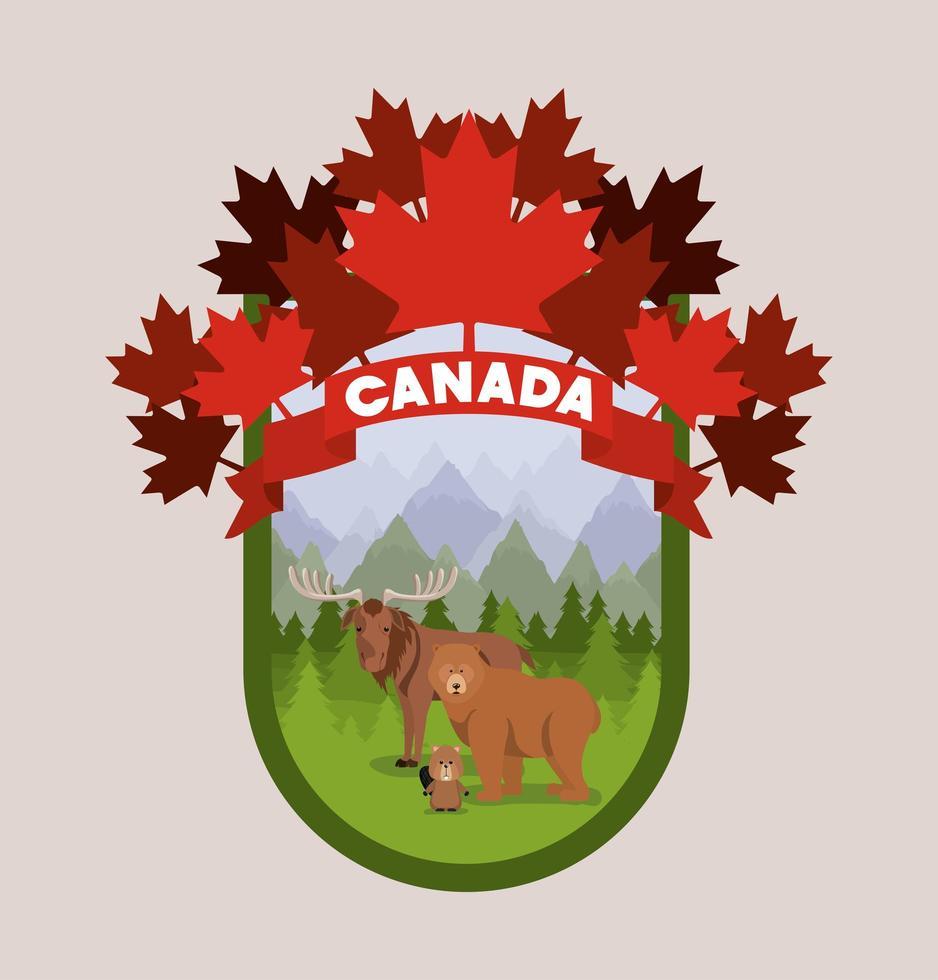 Canadese zeehond met dieren vector