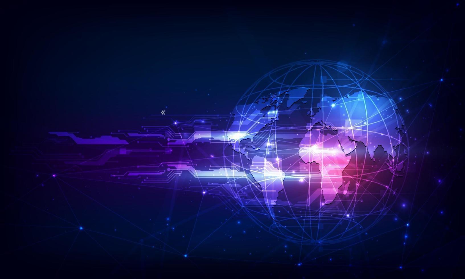 abstract tech bol digitaal circuit patroon innoveren concept b vector