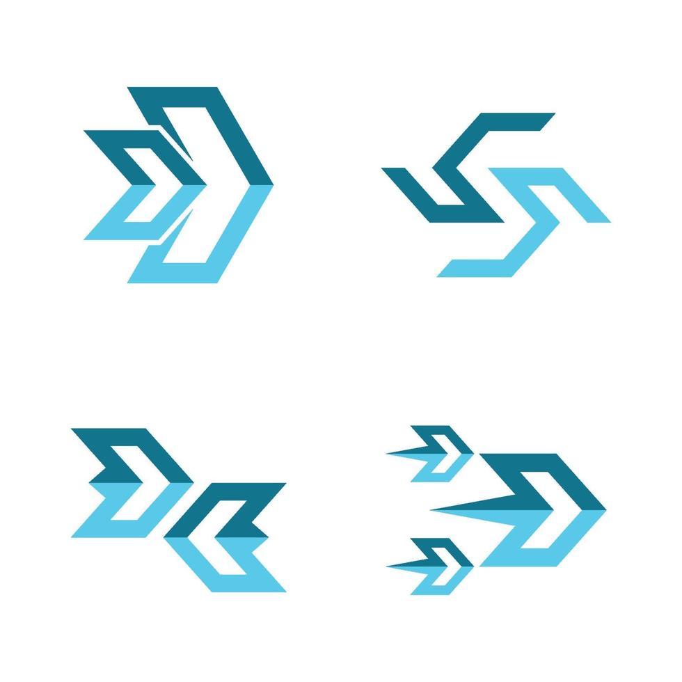 pijl logo afbeeldingen instellen vector