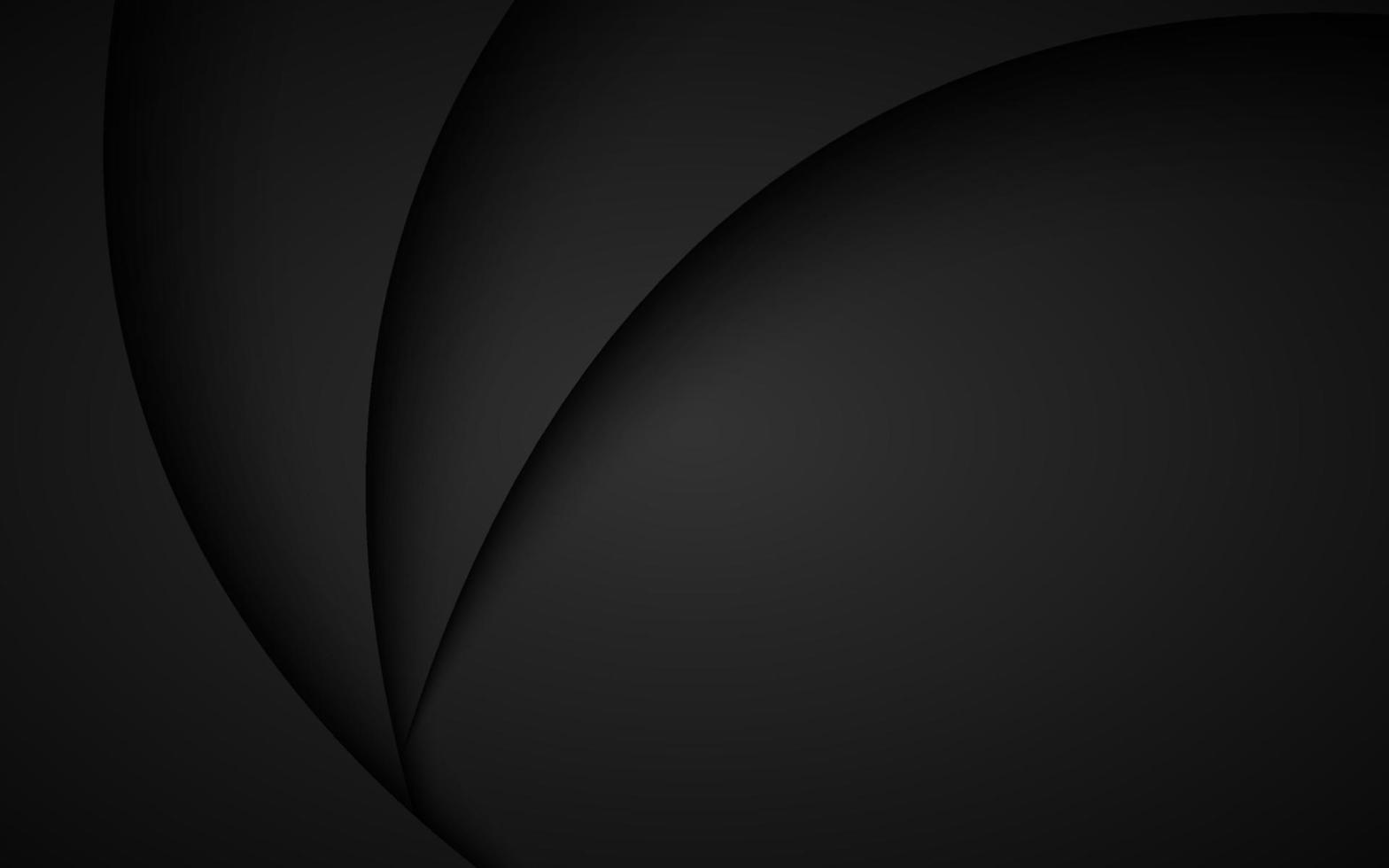 eenvoudige abstracte donkergrijze golvende achtergrond met overlay vellen papier. modern zakelijk design vector