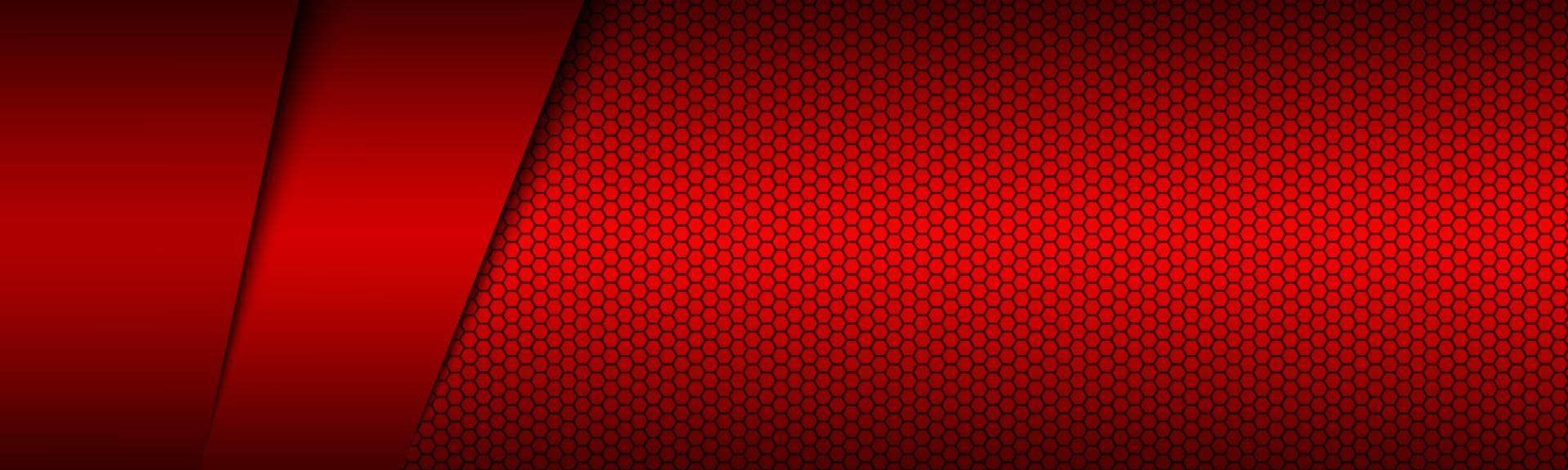 rode moderne materiaalkop met polygoal raster. corporate banner voor uw bedrijf. vector abstracte breedbeeld achtergrond