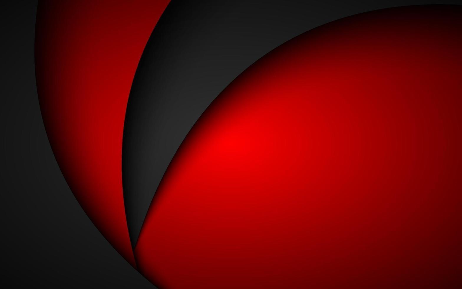 abstracte zwarte en rode golvende achtergrond. modern zakelijk designbehang. overlappen vellen papier vector