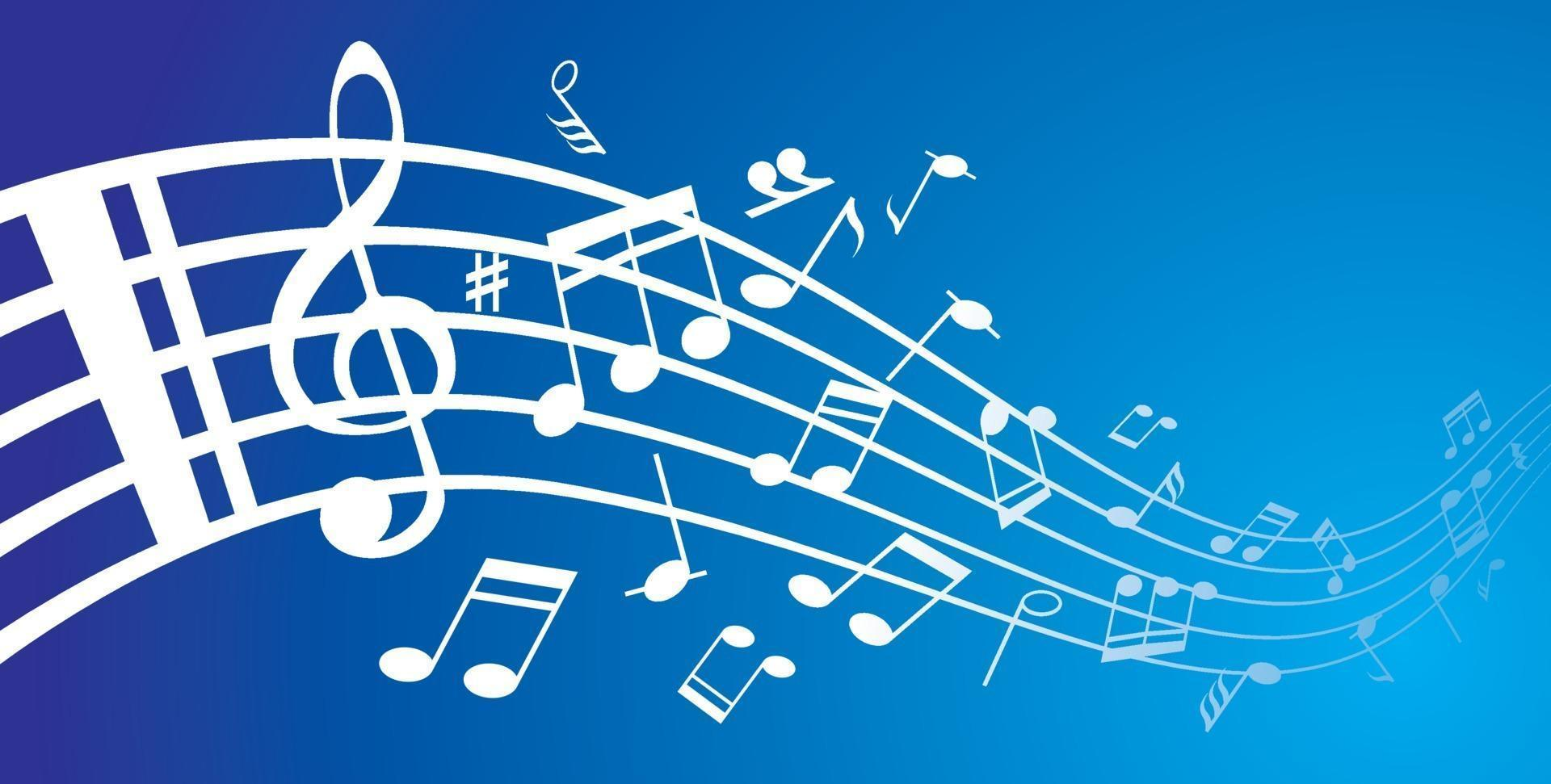 verzameling muzieknoten op een notenbalk vector