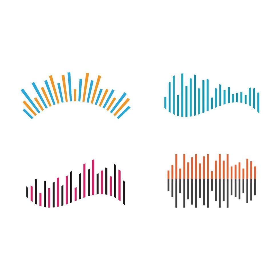 geluidsgolfbeelden ingesteld vector
