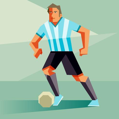 Argentinië voetballers vectorillustratie vector