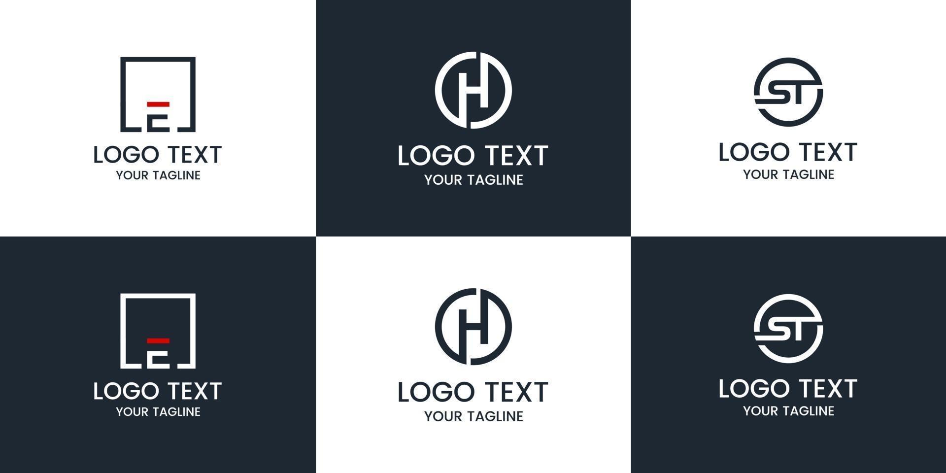monogram ingesteld logo ontwerpsjabloon. vector