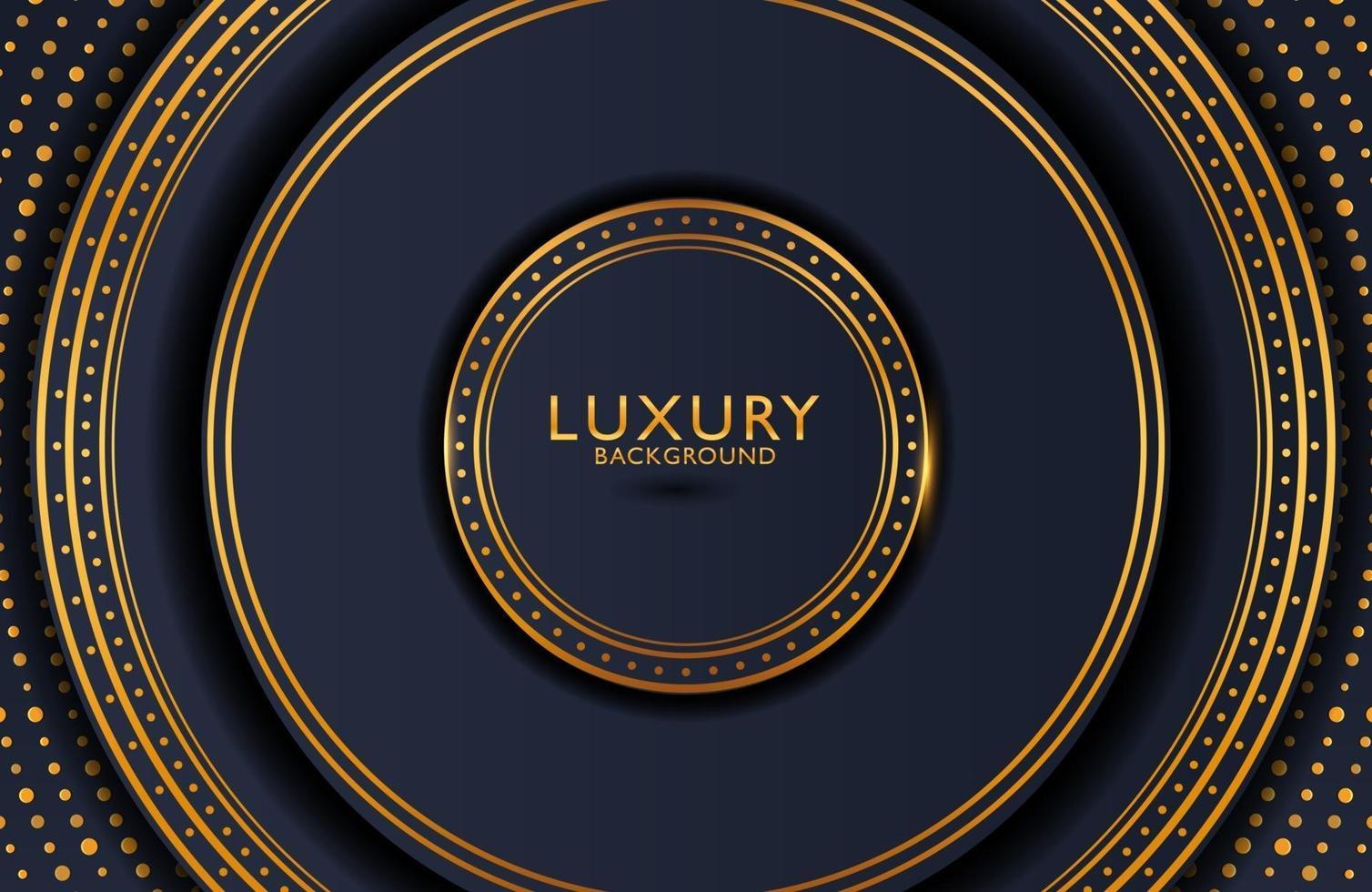luxe elegante achtergrond met gouden element op donkere ondergrond. lay-out van de bedrijfspresentatie vector