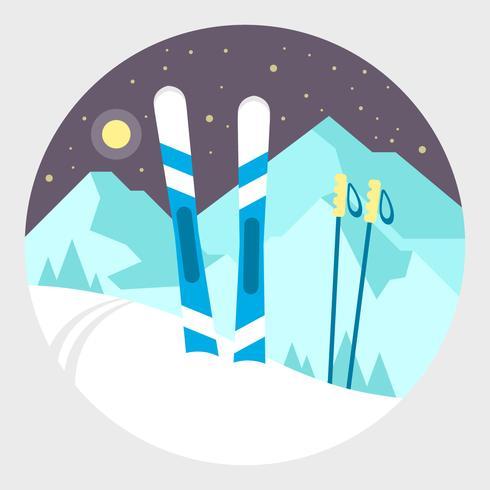 Winter bergen vector