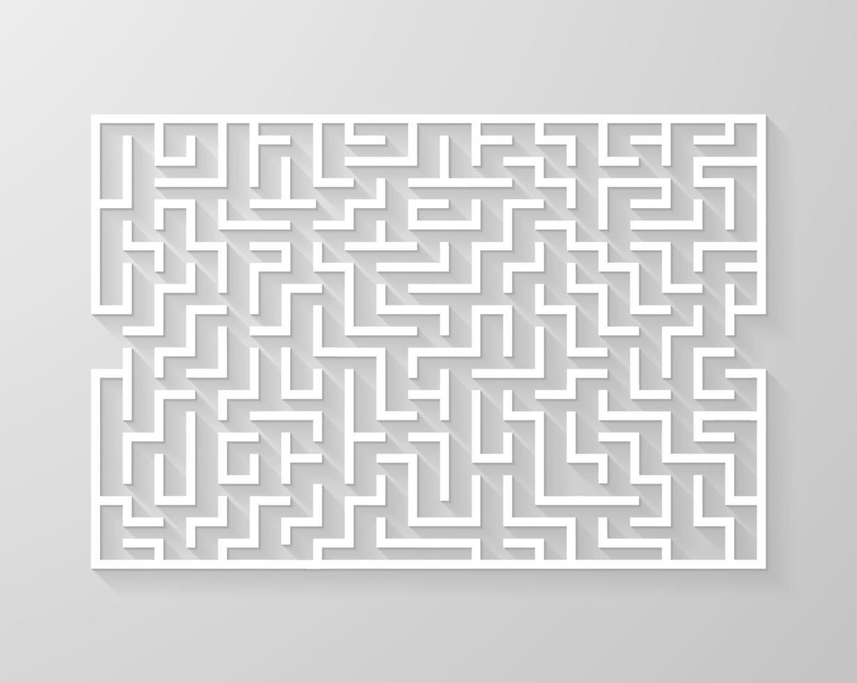labyrint doolhof symbool vorm vectorillustratie. vector