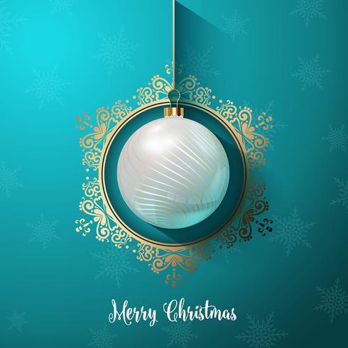 Decoratieve Kerstbal achtergrond vector