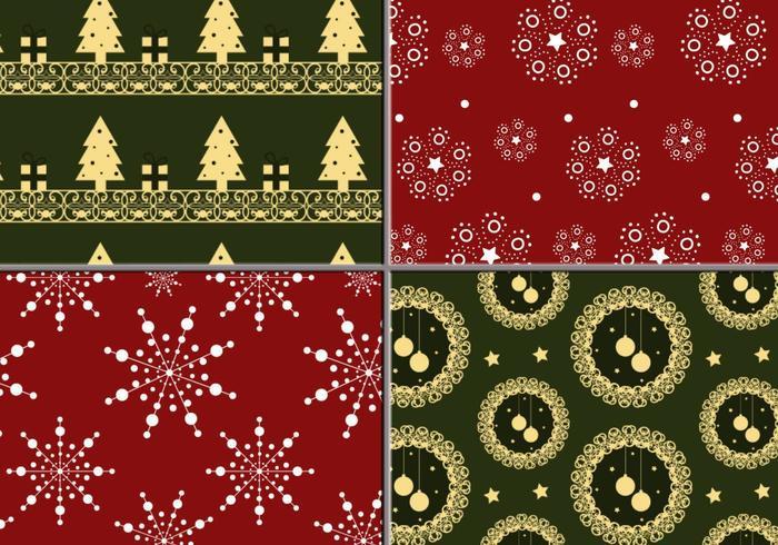 Holiday Wreath en Tree Illustrator Pattern Pack vector