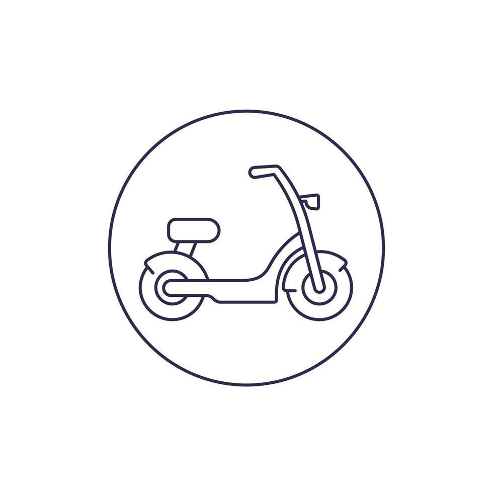 elektrische fiets, scooter vector lijn icon.eps
