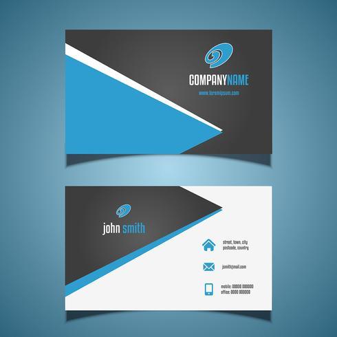 Visitekaartje met een modern design vector