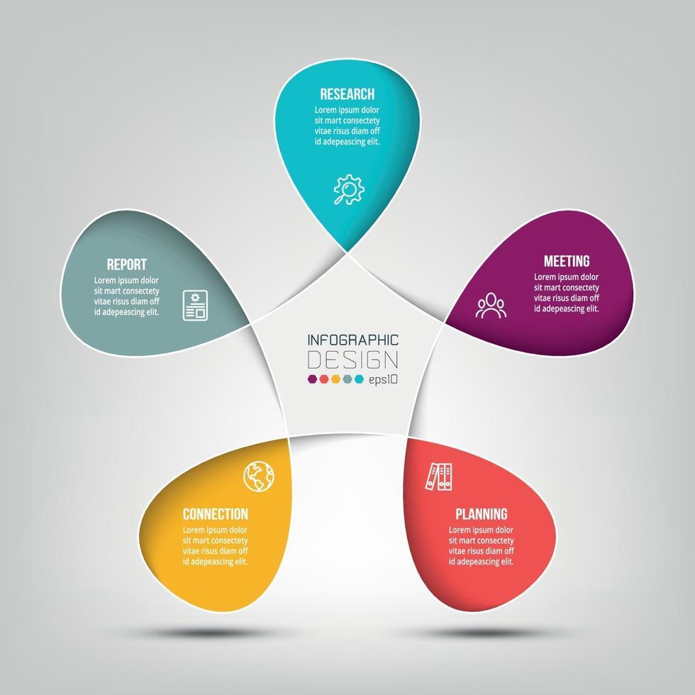 zakelijke of marketing diagram infographic sjabloon. vector
