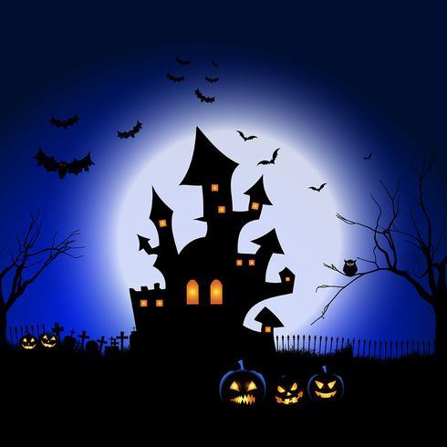 Halloween spookachtige landschap vector