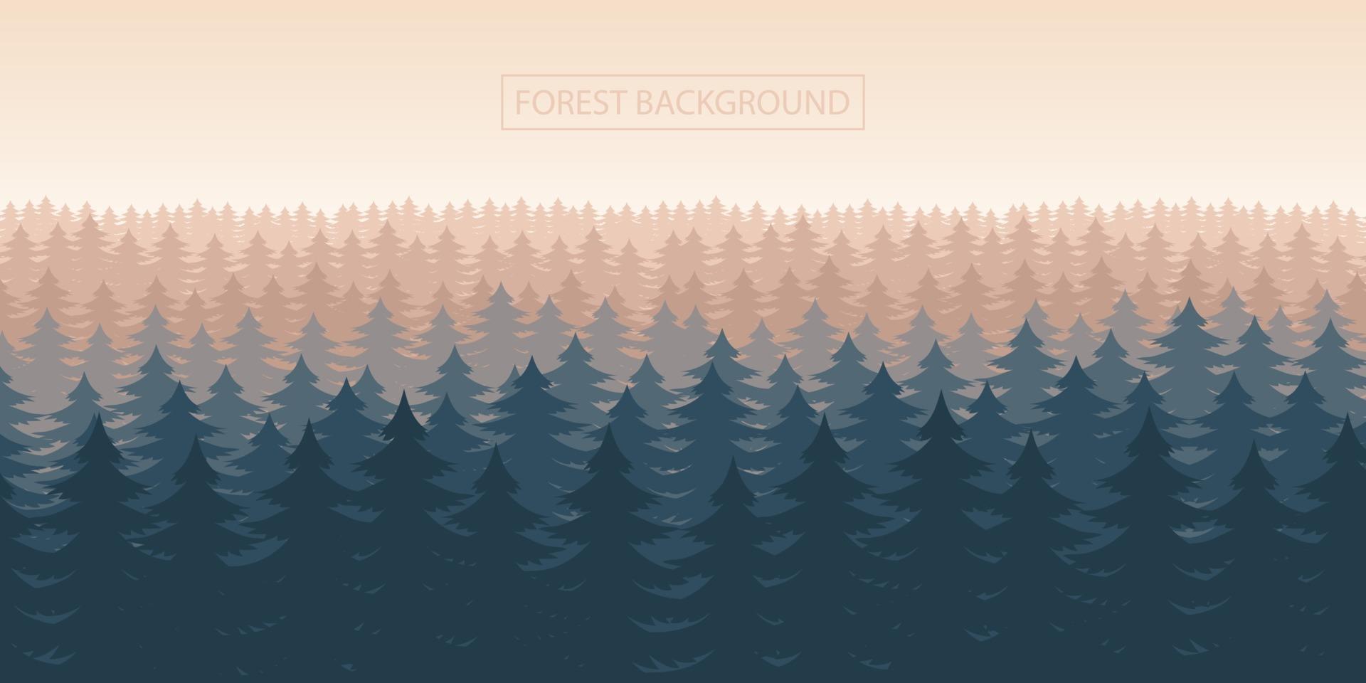 boslandschap achtergrond vectorillustratie ontwerp vector