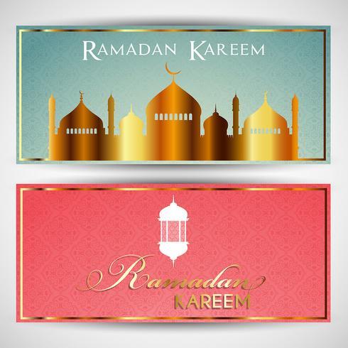 Headers voor Ramadan vector