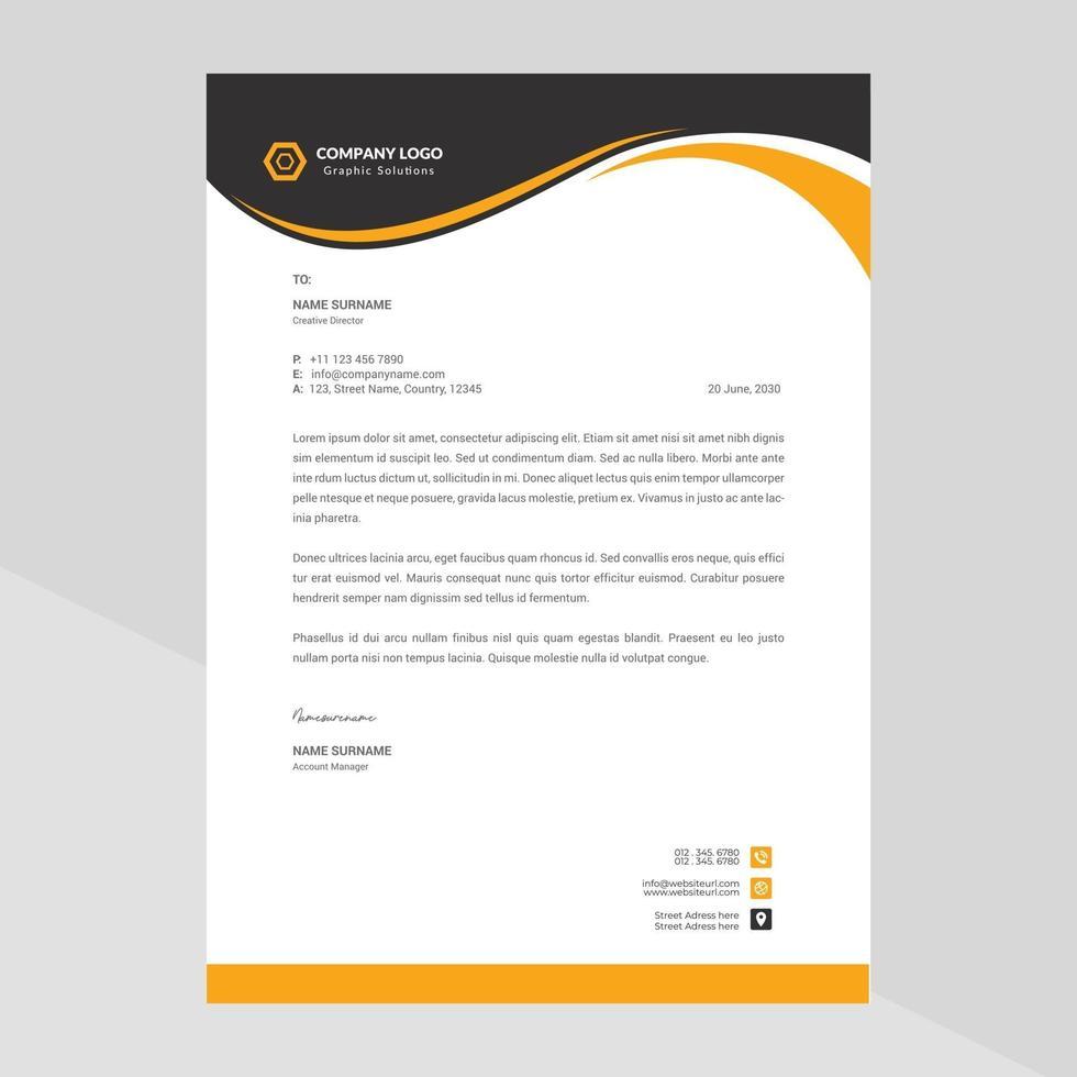 modern briefpapier van het bedrijf vector