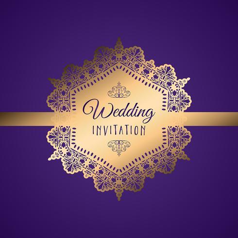 Decoratieve huwelijksuitnodiging vector