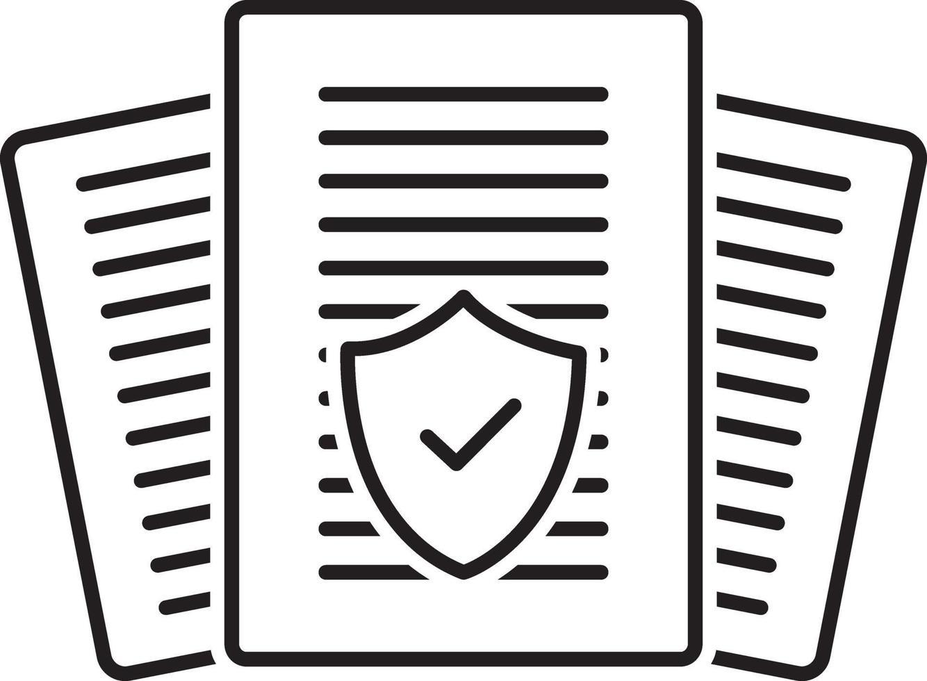 lijnpictogram voor verzekeringsaudit vector