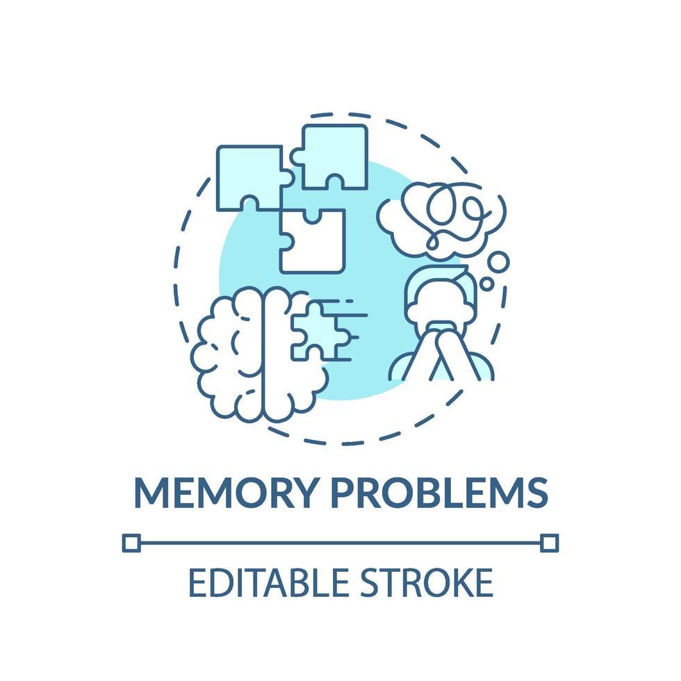 geheugenproblemen concept pictogram vector
