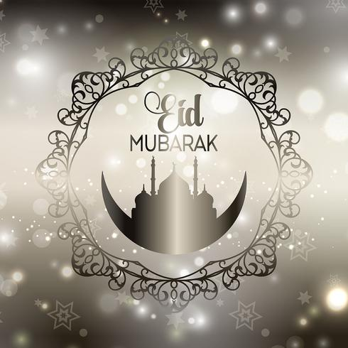 Decoratieve Eid-achtergrond vector