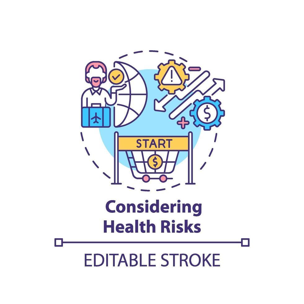 overweegt gezondheidsrisico's concept pictogram vector