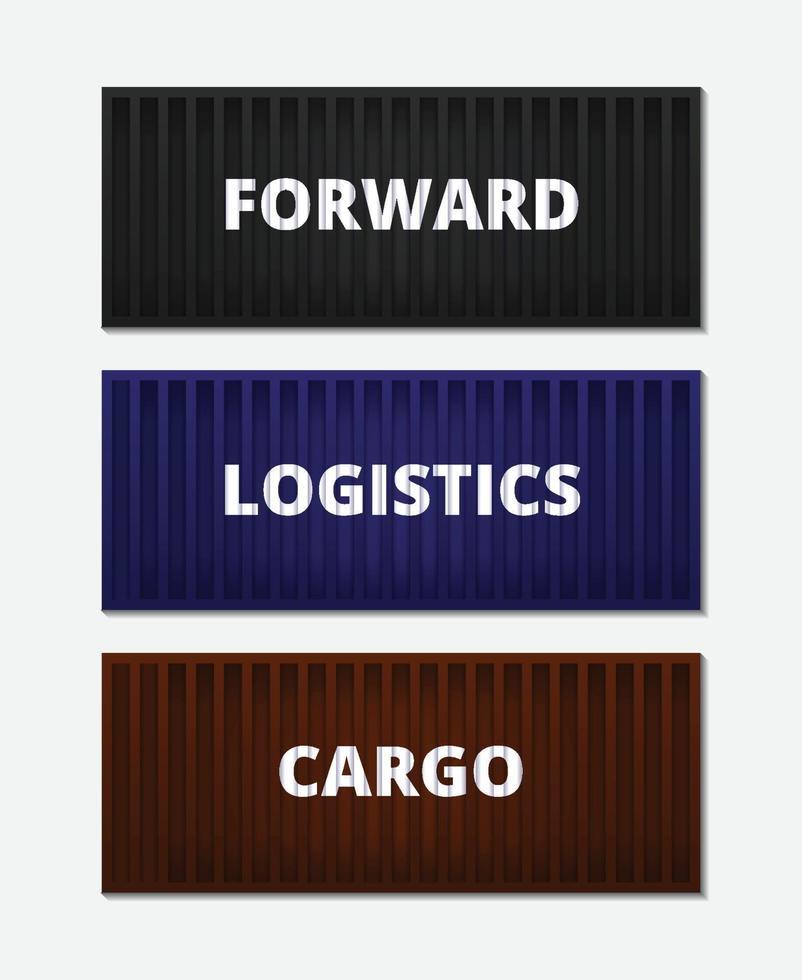 banner logistiek concept met containers vector