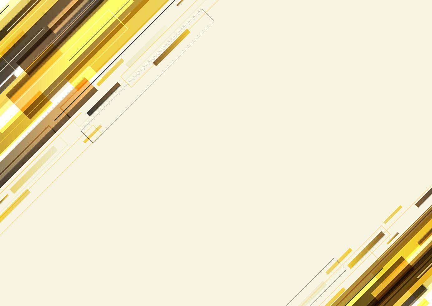 abstracte moderne sjabloon gele diagonale strepen geometrische en lijn overlappende achtergrond vector