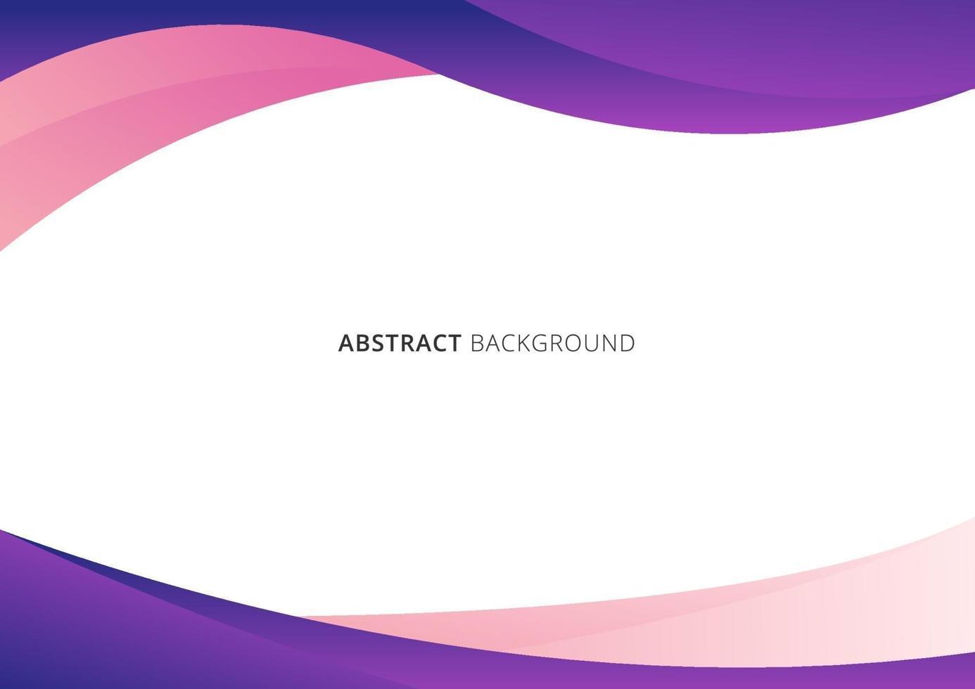 abstracte zakelijke sjabloon roze en paarse gradiëntgolf of gebogen vorm geïsoleerd op een witte achtergrond vector