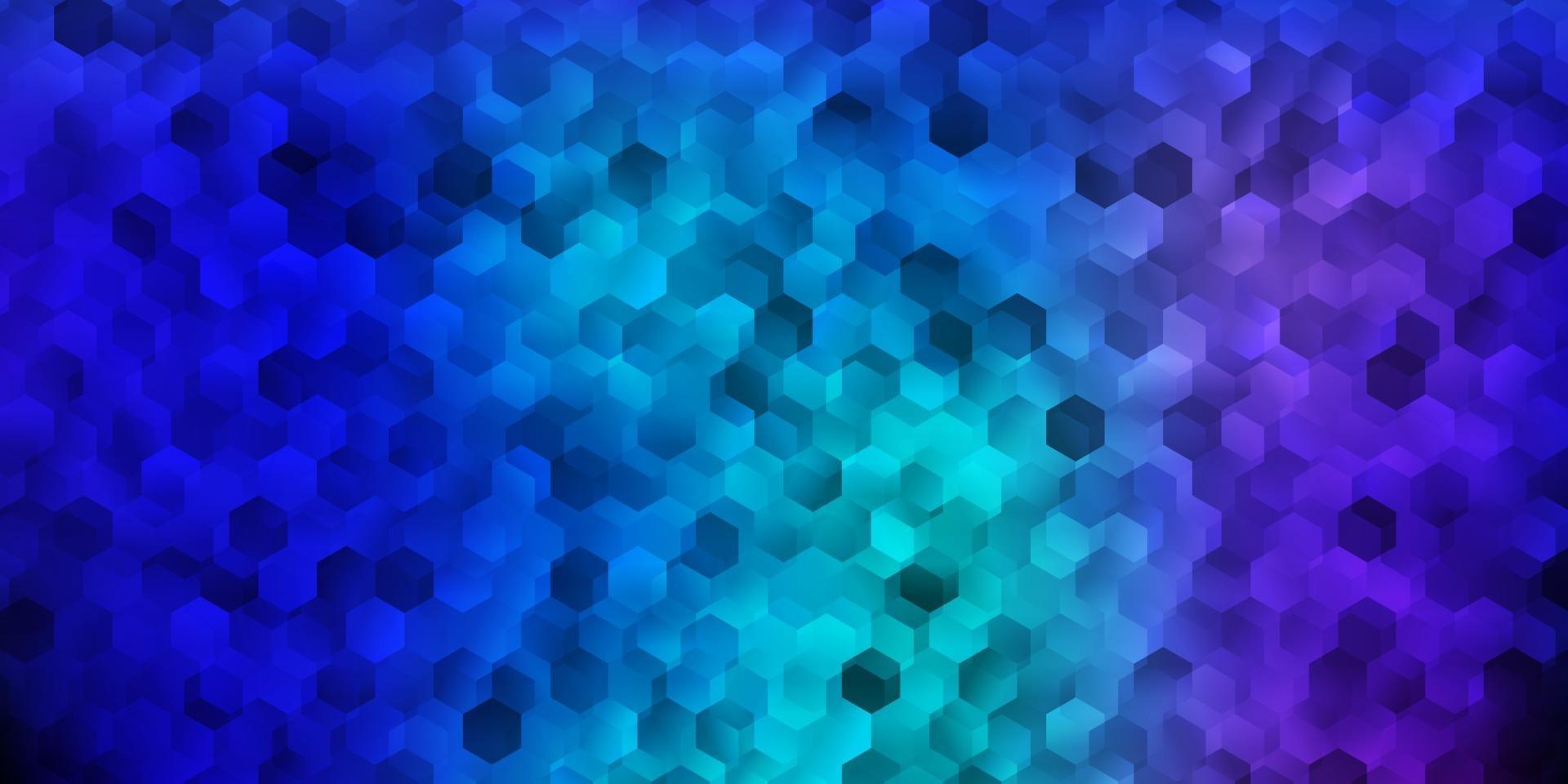donkerroze, blauw vectorpatroon met zeshoeken. vector