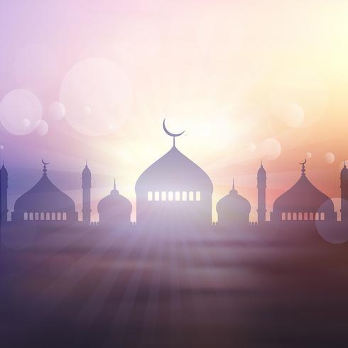 Ramadan landschap achtergrond vector