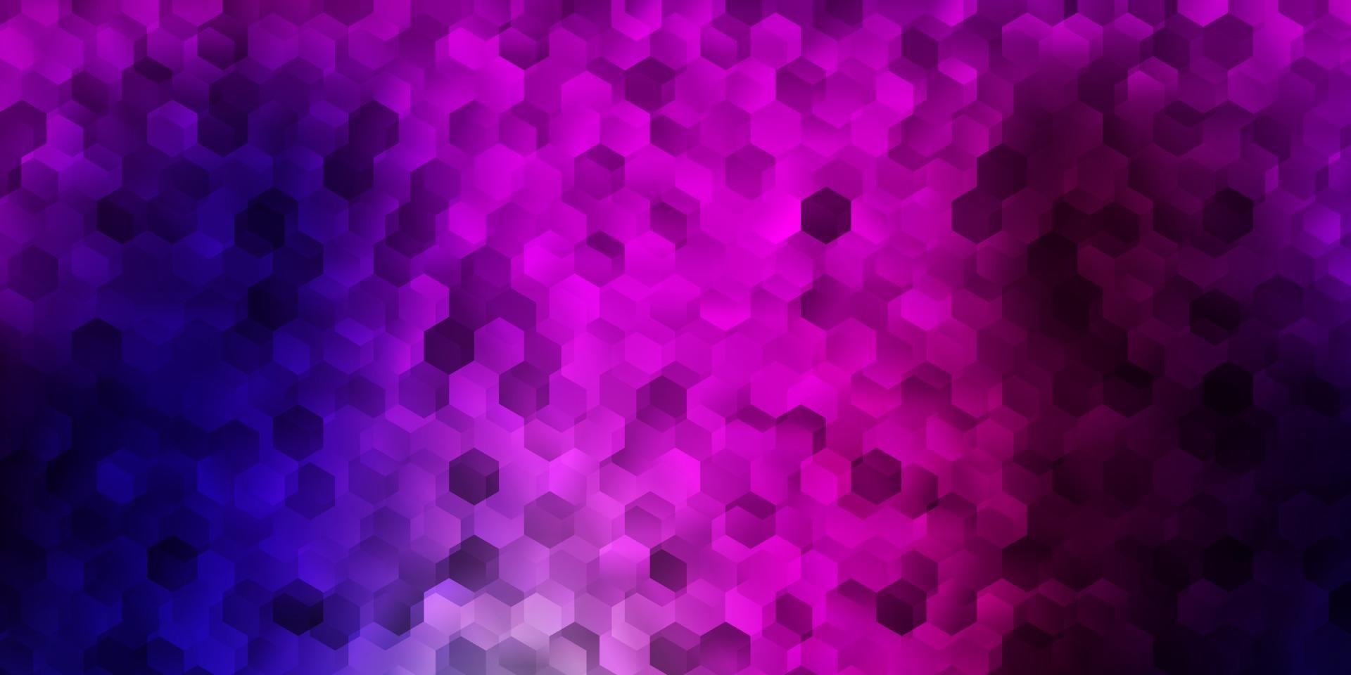 donkerpaars, roze vector sjabloon in een zeshoekige stijl.