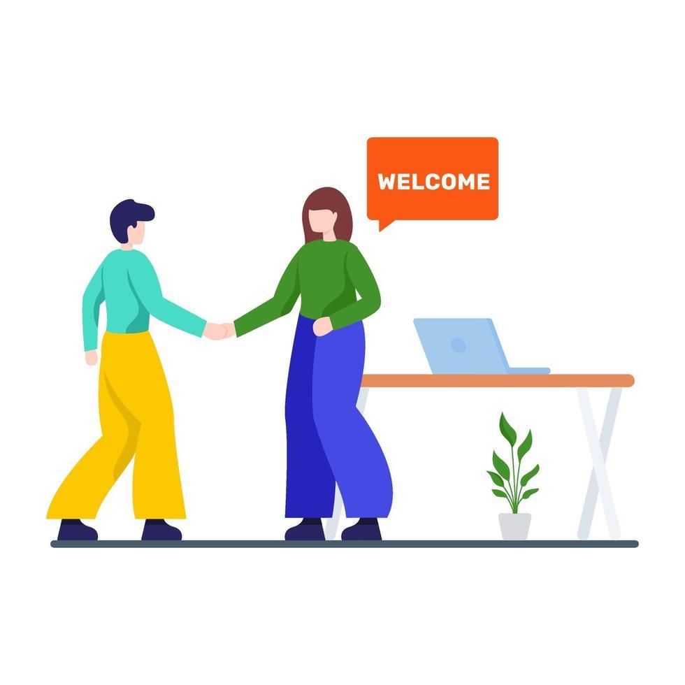 welkom concept voor nieuwe medewerkers vector