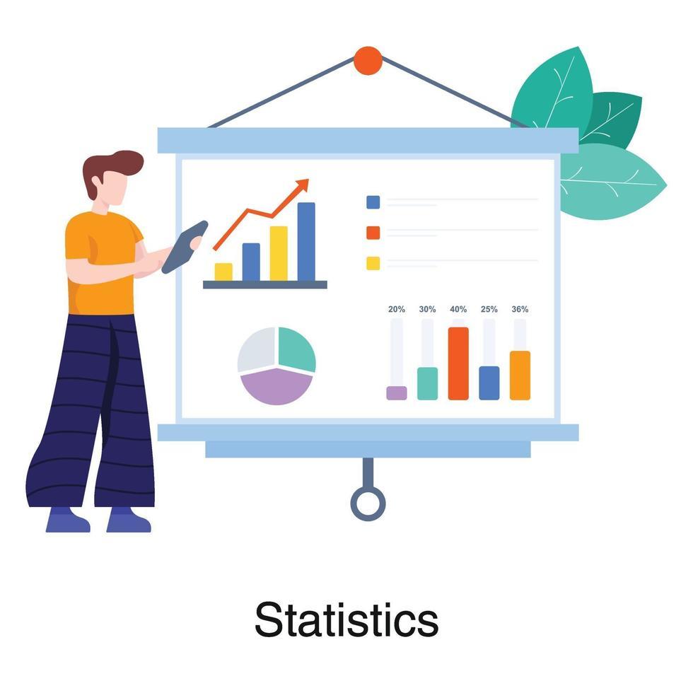 mannelijke data analist concept vector