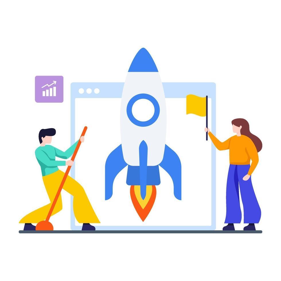 lancering van een nieuw websiteconcept vector