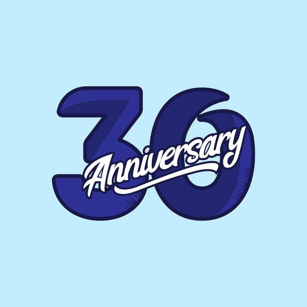 30 jaar verjaardag viering vector sjabloon ontwerp illustratie
