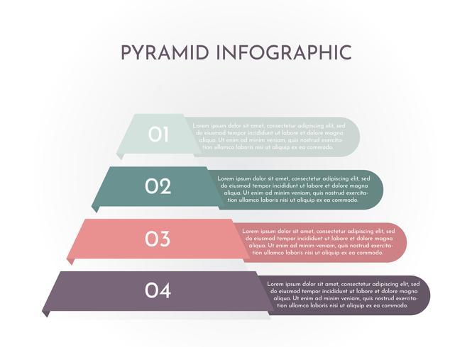 Piramide Infographic vector