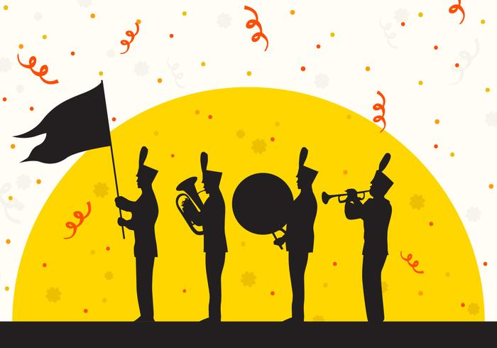 Silhouet van Parade Festival vectorillustratie vector