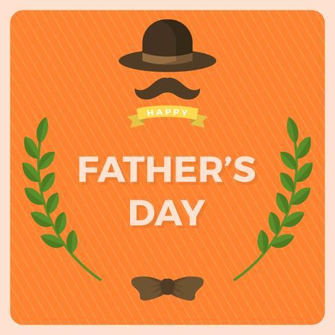 Flat Happy Father's Day groeten Vector