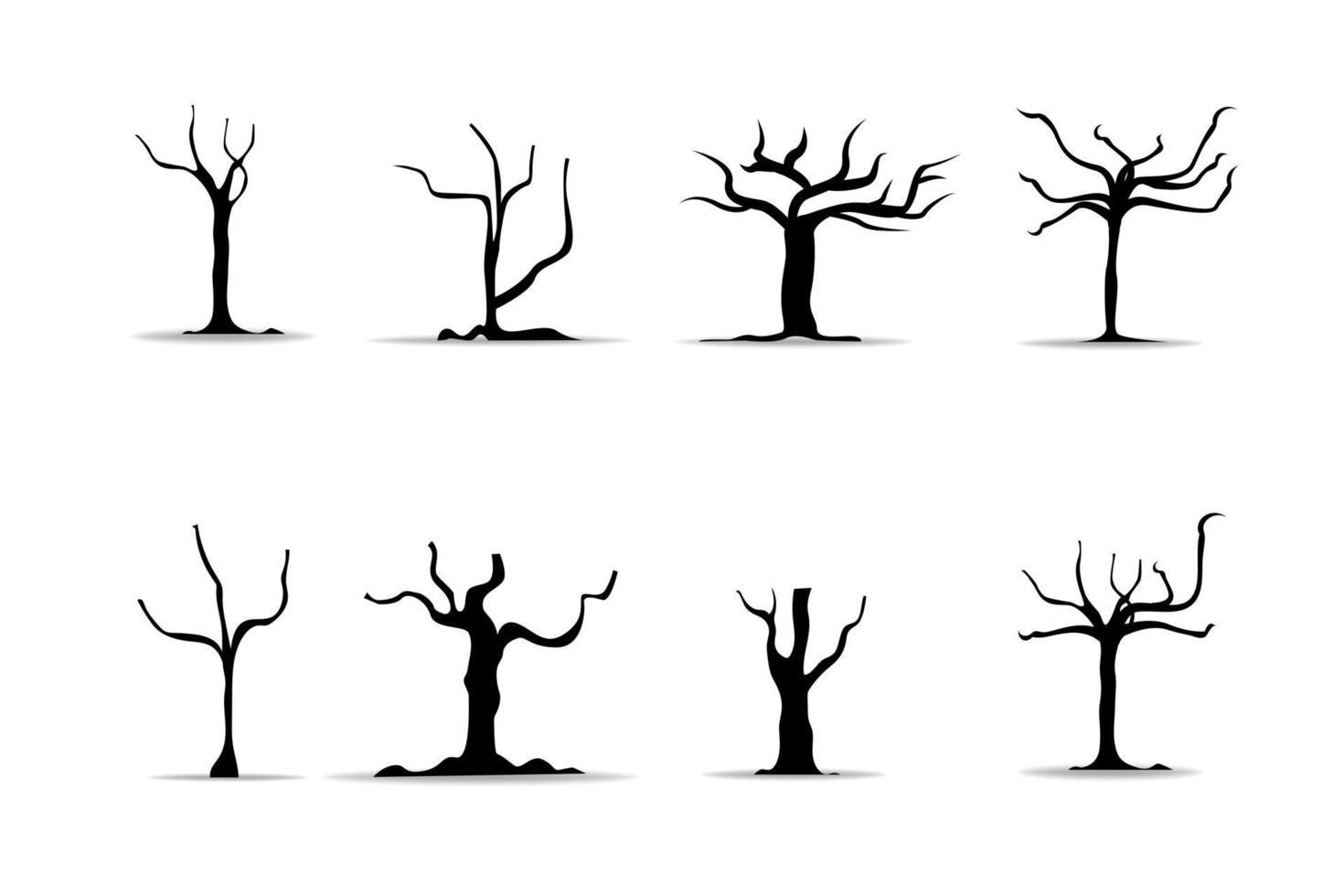 realistische bomen op witte achtergrond. vector