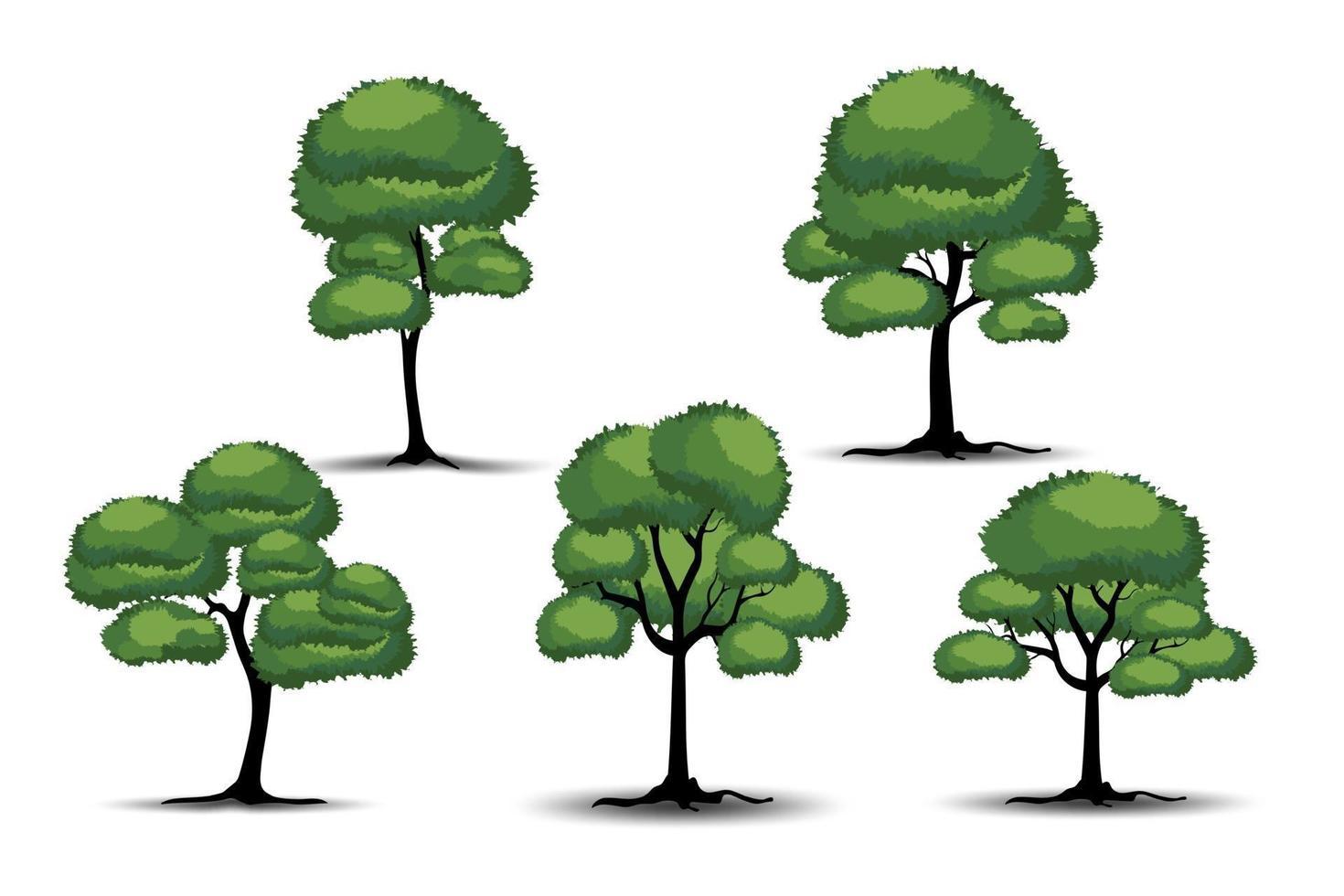 realistische boom op witte achtergrond. vector