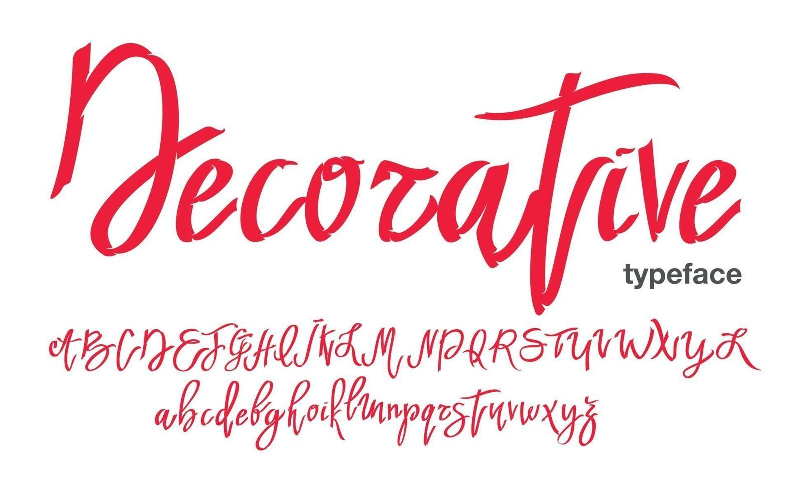 handgeschreven lettertype in graffiti-stijl. vector